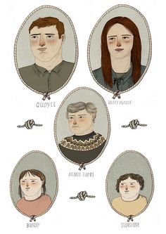 Characters by Lizzy Stewart, via Flickr