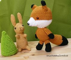 Amigurumi Forest Animals : https://www.etsy.com/it/listing/384310440/amigurumi-fox ...