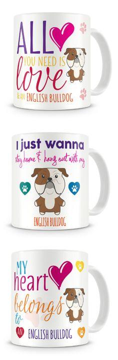 English Bulldog Ceramic Coffee Mug