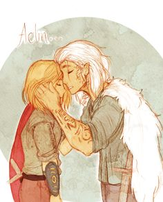 """'Aelin,' he murmured, and it wasn't a reprimand, or a thank you but…a prayer."" Aelin&Rowan - my favourite relationship, I want them to be together whatever the contex :D"