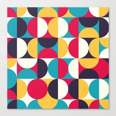 Orbit Stretched Canvas by All Is One - $85.00 #art #design #retro #home #painting #color #decor