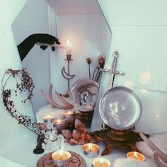 Nocturnal Altar - Utterly Wicked Witch Ideas for Halloween - Photos Pagan Altar Inspiration, Wiccan Decor, Witchy Room Ideas, Witchy Gifts Autel Wiccan, Wiccan Decor, Magick, Witchcraft, Pagan Altar, Decoration Inspiration, Decoration Design, Room Inspiration, Witch Room