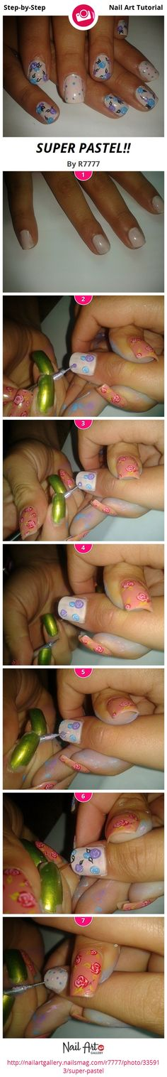 SUPER PASTEL!! by R7777 - Nail Art Gallery Step-by-Step Tutorials nailartgallery.nailsmag.com by Nails Magazine www.nailsmag.com #nailart