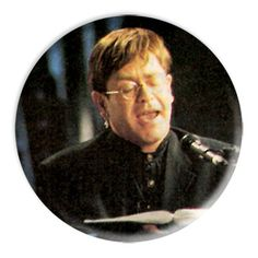 ONLY ONE Elton John 2-1/4 Inch Button