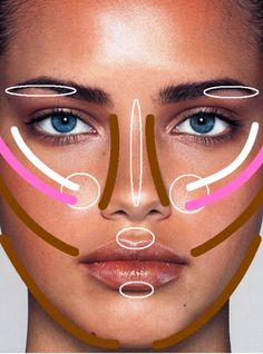 Contour Your Face. I am gonna print this diagram and keep it in my makeup case!