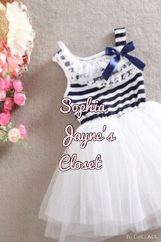 #sophiajaynescloset #tutudress #toddlerdress #navystripes