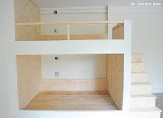 DIY Industrial Bunk Bed Free Plans - Cherished Bliss Check out these fantastic plans for a space-saving bunk bed area .Take a look at these fantastic plans for a space-saving bunk bed area bunkbedfullmattressSimple and Teen Bunk Beds, Bunk Beds For Girls Room, Bunk Bed Rooms, Beds For Small Spaces, Bunk Beds Built In, Modern Bunk Beds, Full Bunk Beds, Bunk Beds With Stairs, Bunk Beds Small Room