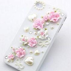 9fcfe50d6518ff Cute Flower Pearl iphone 5 case