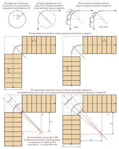 Наглядный расчет забежных ступеней с использованием различных способов