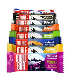 MULEBAR ENERGY BARS - Natural Tasty Energy Bars - No synthetic ingredients, artificial preservatives, colourings, flavourings or palm oil - Organic certified - Fairtrade certified - Suitable for vegetarians - Compostable wrapper.