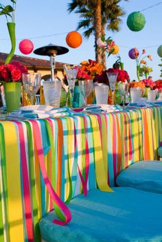 A memorable and beautiful outdoor soiree doesn't require a trip to the mall...you can pull off a clever, stylish party with pieces you already have (and a little creativity.)
