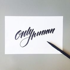 Calligraphy by Andreas M Hansen.