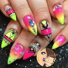 Super Bright Neon Nails... Vacation Ready ☀️✈️