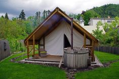 Glamping in Slovenia at Garden Village Bled - The Aussie Flashpacker Glam Camping, Glamping, Luxury Tents, Luxury Cabin, Luxury Hotels, Luxury Tree Houses, Jacuzzi Outdoor, Living In England, Most Luxurious Hotels