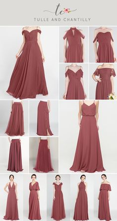 canyon rose fall wedding color ides and bridesmaid dresses Hippie Bridesmaid Dresses, Blue Wedding Guest Dresses, Bridesmaid Dress Colors, Blue Bridesmaids, Wedding Colors, Infinity Dress Bridesmaid, The Dress, Bridal Gowns, Fall Wedding