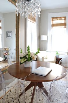 Suzie: Megan Blake Design - Gorgeous dining room design with Room & Board mid-century modern ...