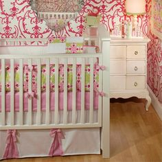 sweet girl nursery bedding   Pink Sugar Crib Bedding Set - Baby Girl Bedding