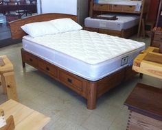 Custom Made Urban Flex Adjustable Storage Bed - This is one of my patented items. It is an adjustable bed that fits twin/full or queen/king. It has 6 drawers. I've made hundreds of this type of bed in about every style and color. It ships in 3 pieces and is adaptable in many ways.