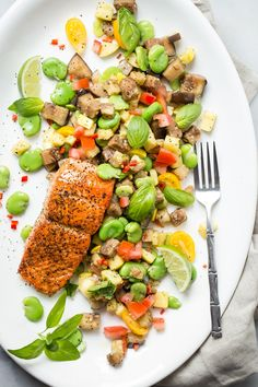 Fresh Alaskan Sockeye Salmon straight from The Copper River. Sear it with your favorite seasoning and serve with this easy fava bean salad.