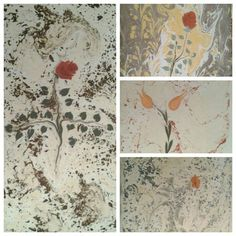 Photo collage of my ebru paintings