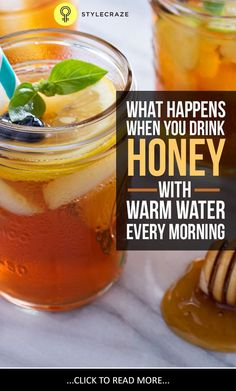 honey with warm water #remedies