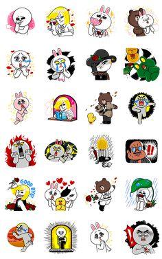 画像 - LINE Characters: Burning Emotion by Line - Line. Line Cony, Large Emoji, Emoticons, New Background Images, Emoji Stickers, Cute Love Gif, Line Friends, Line Sticker, Boy Art