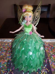 Simple Tinkerbell cake!