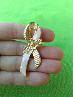 Vintage Breast Cancer Awareness Pin Item 286 by LaylaBaylaJewelry