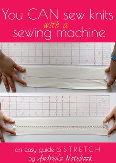 You CAN sew knits with a sewing machine! An easy guide to choosing the right stitch.