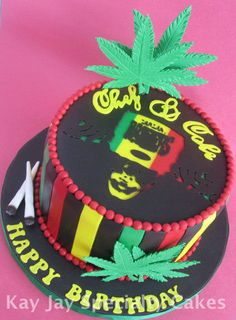 Inspired by Bob Marley - Cake by Kimberley Jemmott - CakesDecor
