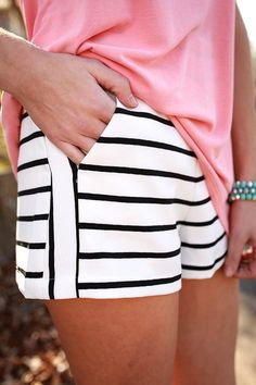 Stripe Hype Shorts