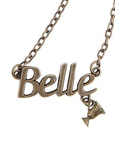 Disney Beauty And The Beast Belle Nameplate Necklace,