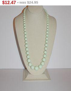 50% OFF  Joan Rivers Beaded Necklace Mint Green by SCLadyDiJewelry