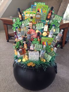 really cute Pot of Gold Raffle Basket