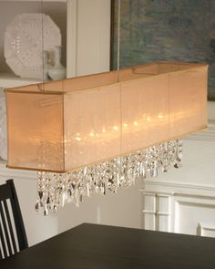 Shaded light design 5 light 44 chrome crystal linear chandelier shaded light design 5 light 44 chrome crystal linear chandelier pendant with an organza shade sku 10581 585 lighting pinterest linear chandelier aloadofball Gallery