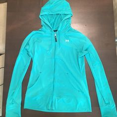 Medium Under Armor Hooded Jacket Medium green Under Armor hooded jacket. Gently Used Under Armour Tops Sweatshirts & Hoodies