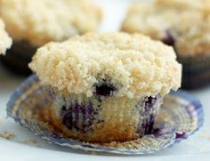 Best Blueberry Muffins rom Cooking Classy -- She's the BEST! Yummy Treats, Delicious Desserts, Dessert Recipes, Yummy Food, Sweet Treats, Cupcakes, Cupcake Cakes, Homemade Blueberry Muffins, Blueberry Crumble