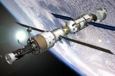 The International Space Station is a large space shuttle that is in space, holding many astronauts and experiments that are done in the vacuum of space.  Since people reside in there, oxygen must also be at optimum levels.  The process of electrolysis is a good solution.  In doing this process, hydrogen and oxygen can be made from water.  The molecules from this will be able to react with each other and separate, reforming from H2O into O2 and H2.