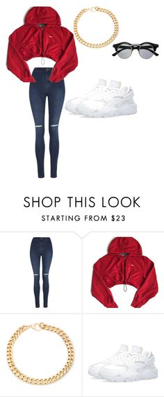 """"" by yolanti ❤ liked on Polyvore featuring George, NIKE, Alessandra Rich and Retrò"