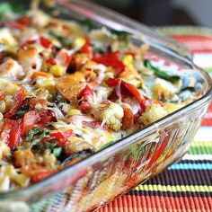 Stacked Roasted Vegetable Enchiladas-Yummy and Healthy Paleo Diet Recipes