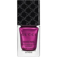 Gucci Absolute Purple, Bold High-Gloss Lacquer (€25) ❤ liked on Polyvore featuring beauty products, nail care, nail polish, nails, makeup, beauty, purple, gloss, gucci and glossy nail polish