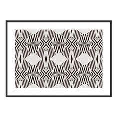 """Black and White"" ""Cobalt Stripe"" by Kristi Kohut for The Maryn"