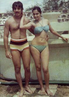 Madhavi with Kamal Hassan