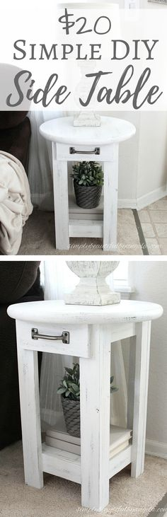 Simply Beautiful by Angela: $20 Simple DIY Side Table