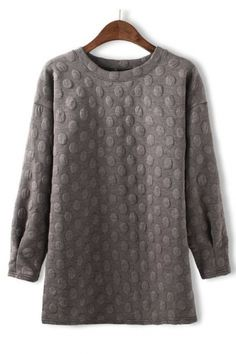 Fashion Dots Cotton-padded Pullover