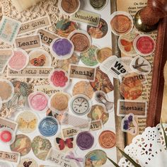 Vintage style DIY Material Planner Label Sticker Sack Flake Bullet Journal Stencils, Journal Stickers, Scrapbook Stickers, Planner Stickers, Cactus Stickers, Kawaii Stickers, Cute Stickers, Crown Stencil, Suitcase Stickers
