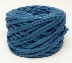 tissu laine 37meters 40yards T-shirt yarn bleu tshirt bleu fil