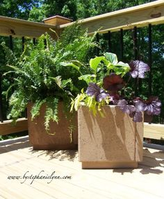 How To Make Patio Paver Planters