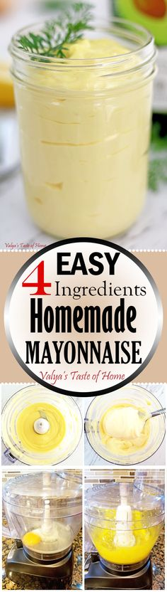 This mayonnaise recipe is simple to make, and like always homemade is always the BEST. With ingredients that you most likely already have in your fridge and pantry recipe, you can make a tasty, very similar to store bought mayonnaise, that's prepared much healthier. Plus, it takes only 5 minutes to make which is so much faster than a run to the grocery store for it.