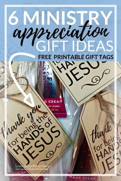 FREE PRINTABLE GIFT TAG Ministry Appreciaiton: Here are 6 ministry appreciation gift ideas for when you want to honor ministry volunteers or leaders. Volunteer Appreciation Gifts, Volunteer Gifts, Gifts For Volunteers, Employee Appreciation, Pastor Appreciation Month, Tips And Tricks, Gifts For Pastors, Free Printable Gift Tags, Teacher Christmas Gifts